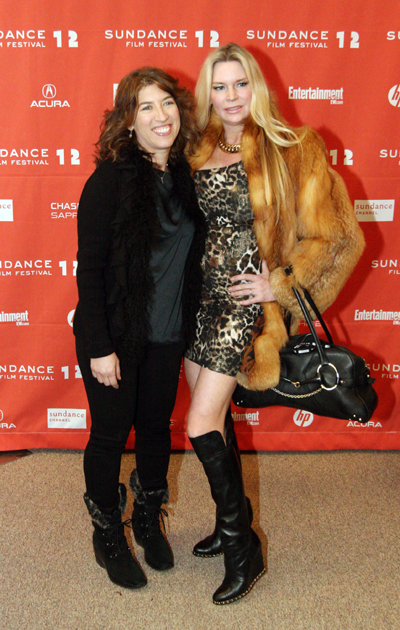 Lauren Greenfield and Jacqueline Siegel posed together at the film s premiere at the Sundance Film Festival in January. photo by Tyler Cobb/Park Record