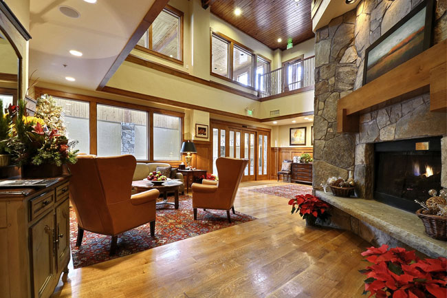 The Deer Valley Club lobby was renovated three years ago. (Photo provided by the Deer Valley Club)