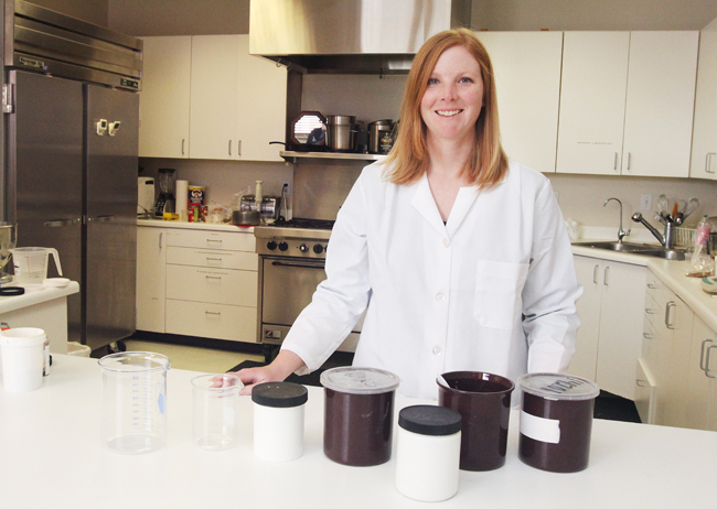 Nicole DeBloois is a food scientist for Park City-based JMH International. She says the move here from Minnesota worked out very well. Photo By Tyler Cobb/Park Record