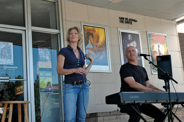 Lisa Needham and her husband Rich Wyman will perform a benefit concert for Peace House at Riffs Acoustic Music on March 1. (Photo by Cynthia Sandoval)