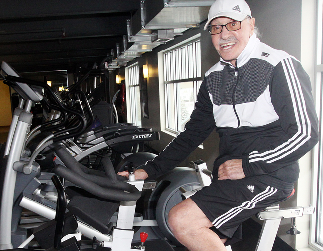 Bernie Stabins has transformed his life since moving here in 2010. Six mornings a week you can find him working out at the Silver Mountain Spa at Kimball Junction. Photo by Tyler Cobb/The Park Record