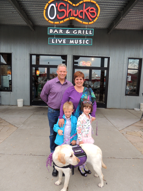 The Barker family (pictured) has teamed up with O Shucks-Ahh Sushi Bar and Grill to raise the pageant entry fee for six year-old Carlee (bottom right), first-time pageant participant. Carlee is competing in the upcoming Utah division of the National American Miss pageant, taking place in June at Salt Lake City. Photo provided by the Barker family