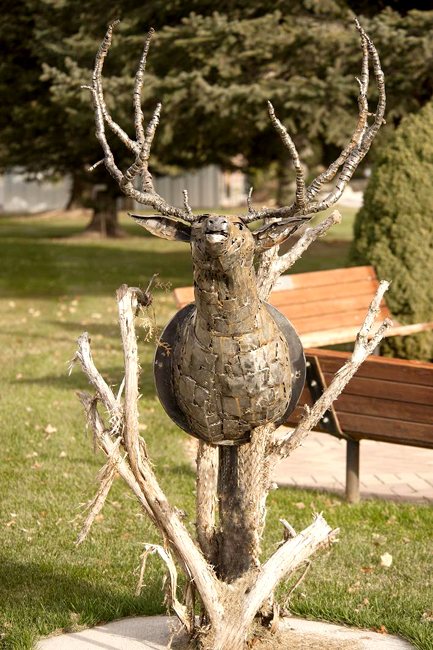 "Cody Keetch's ""Metal Mulley"" won the Summit County Public Art Advisory Board's People's Choice Award. The work will be purchased and put on display in Coalville's outdoor gallery. (Photo courtesy of the Summit County Public Art Advisory Board)"