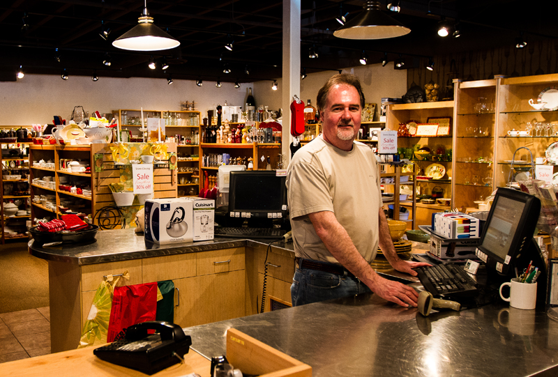 No Place Like Home closing owner, Terry Frank, is shutting the doors to the kitchen and home accessory store he opened in May of 1990. Christopher Reeves/The Park Record