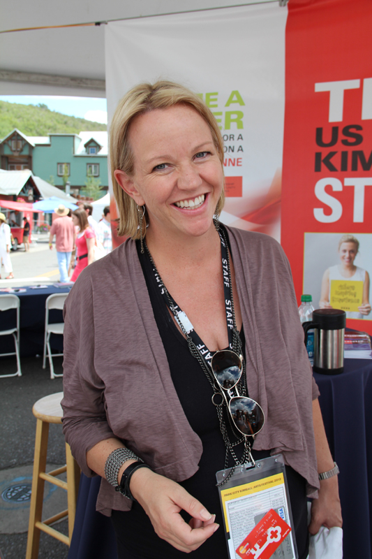 Robin Marrouche, executive director of the Kimball Art Center, pictured her at last year's festival, says funds raised by the Park City Kimball Arts Festival, which runs this weekend from Aug. 2-4, allow the art center to program the free year-round exhibits and community outreach programs. (Nan Chalat Noaker/Park Record)