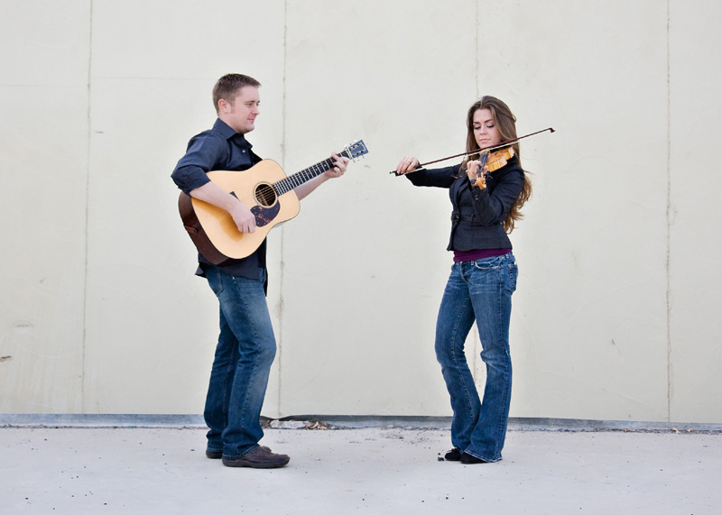 Bluegrass duo Jake, left, and Rebekah Workman will play the Silver Star CafŽ's Park City Limits concert on Saturday, Oct. 12, at 7:30 p.m. The husband-and-wife performers found bluegrass through different avenues when they were young and honed it into their livelihood. (Photo courtesy of the Jake and Rebekah Workman)