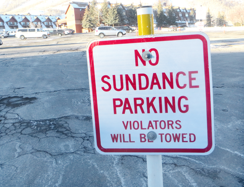 Park City Mountain Resort does not want Sundance Film Festival-goers parking in its lot. PCMR is among the businesses that have posted signs barring parking by festival-goers. Jay Hamburger/Park Record