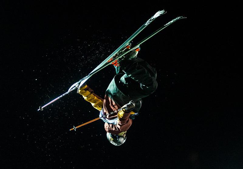 Lyman Currier gets huge air during his run at the U.S. Grand Prix at Park City Mountain Resort on Saturday night. Christopher Reeves/The Park Record