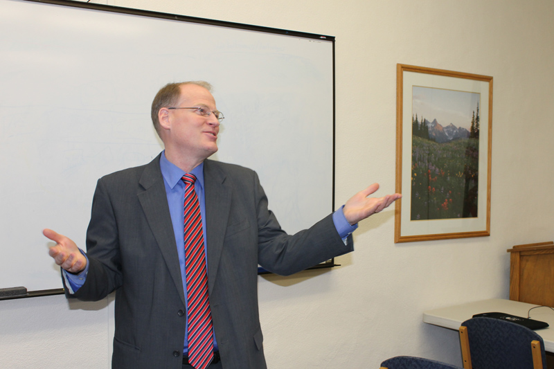 Utah State Rep. Kraig Powell (R-Heber City) hosted a town hall meeting at the Park City Library on Saturday, where he discussed issues such as air quality, Count My Vote,  energy choice  legislation and liquor law reforms. (Aaron Osowski/Park Record)