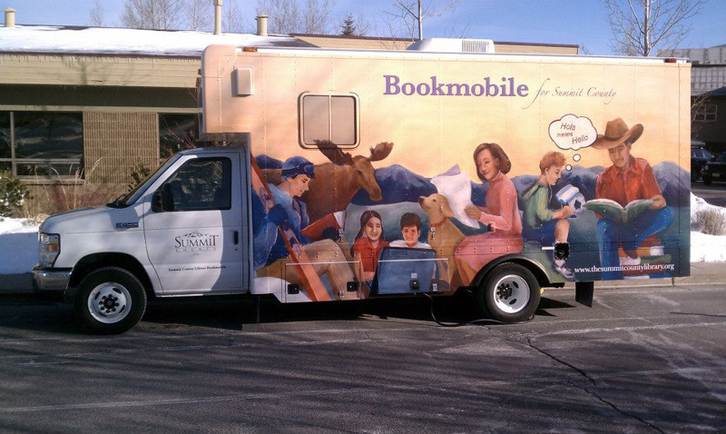 The Bookmobile will be at the Summit County Library Kimball Junction Branch during the Date with the Library celebration that will be held on Feb. 12. All Summit County Libraries will offer readings, crafts and a Valentine's hunt. (Photo courtesy of the Summit County Library System)
