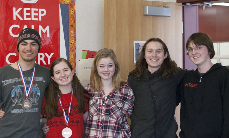 From left to right: Isaac Jedlicka, Sara Tabin, Katie Kelley, Will Griffith and Jack Lambert are some of Park City High School s varsity debaters that have qualified for the state tournament. Photo courtesy of Carolyn Kelley.