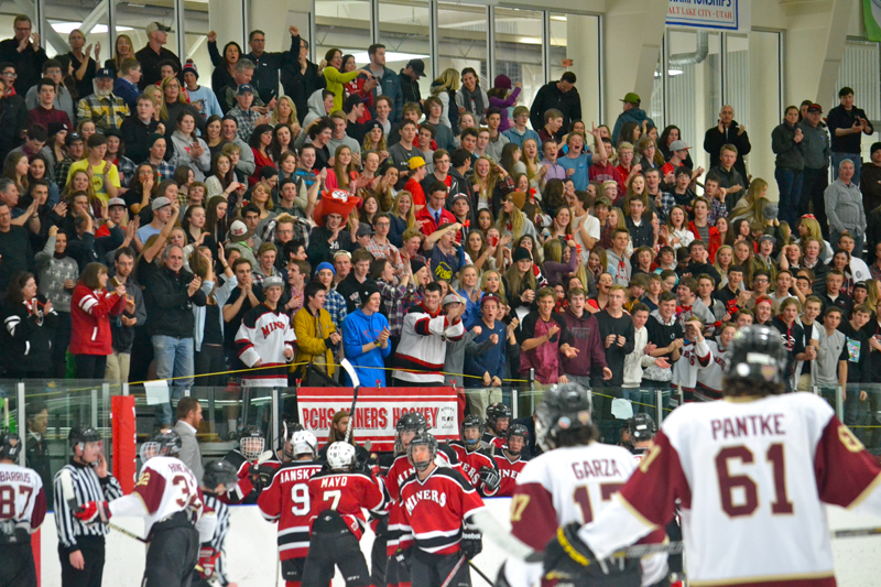 A great crowd of PCHS students and other Miner fans made the trek to Salt Lake for Friday night's state championship game. Photo courtesy of Randy Hanskat