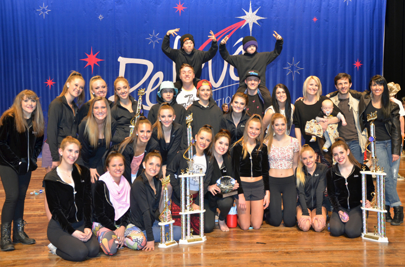 Dance Tech Studios received the Overall High Point Studio Award, Choreographer Award and Master Teacher's Top Student Award at RelevŽ, a statewide dance competition that was held at Weber State University last week. (Picture courtesy of Kelly Capone)