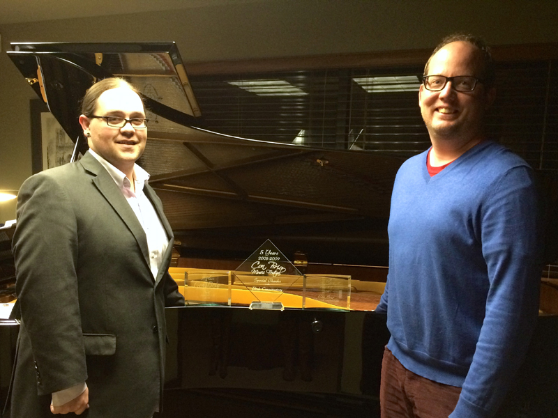 "Con Brio Music Festival organizers Mike Vermillion, left, and Bryan Stanley have worked hard over the past decade to turn the event into a ""community celebration of musical excellence."" (Photo courtesy of Mike Vermillion)"