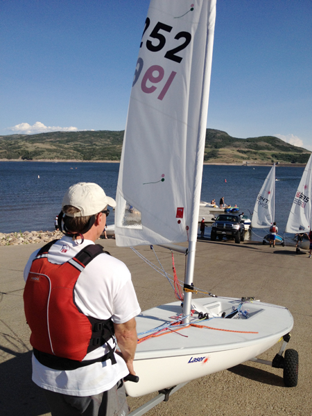 Members of the Park City High School Sailing Team are planning to take to the Jordanelle Reservoir this summer in Laser sailboats like these. Park Record file photo