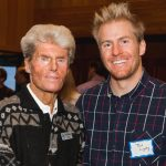 Stein Eriksen and Ted Ligety pose for a picture at the formal launch of the Stein Eriksen YSA Opportunity Endowment fund at Silver Lake Lodge on Friday. Photo courtesy of Carla Boecklin