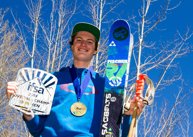 Martin Lentz shows off his gold medal and season-title plaque at his home in Park City. Christopher Reeves/Park Record