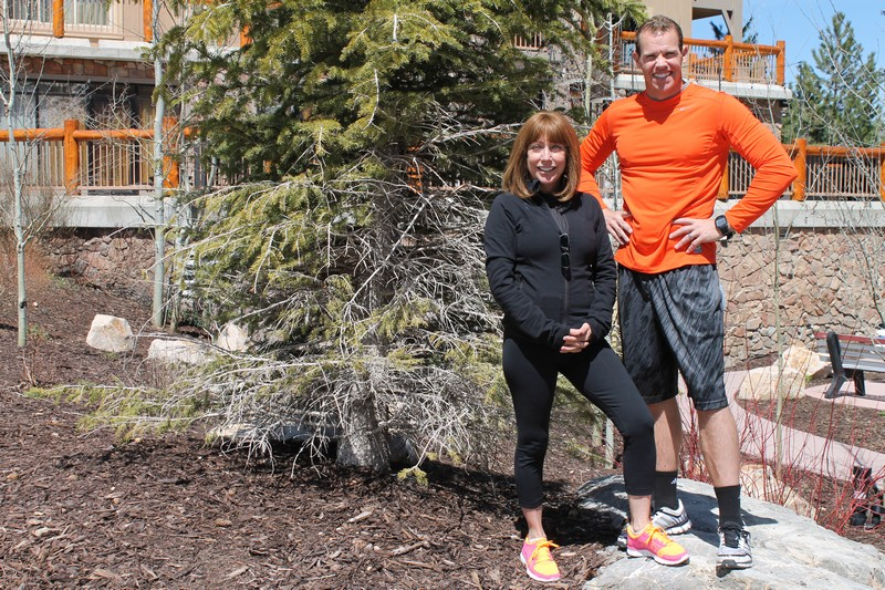 Wayne Larsen, right, is a partner and director of One Fitness Camp. Pam Nelson, left, is a personal trainer. Both help out-of-towners and locals achieve the healthy fitness results they seek. Alexandria Gonzalez/Park Record.