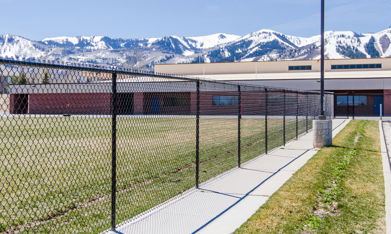 The Park City School District has proposed to build a six-foot black chain-link fence around the perimeter of Parley s Park Elementary and the other elementary schools in the district. The idea behind the fences, a school official says, is not to deter an intruder but to stop children from leaving school grounds or being abducted. (Christopher Reeves/Park Record)