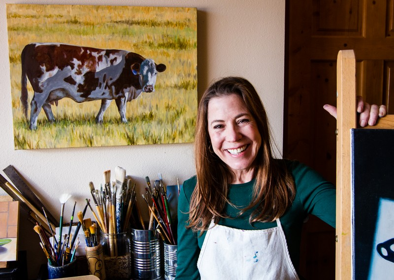 Susan Wythe at home in her studio. She's been drawing and painting all her life. She volunteered to teach  Masterpieces in Art  at Jeremy Ranch Elementary for many years. (Christopher Reeves/Park Record)