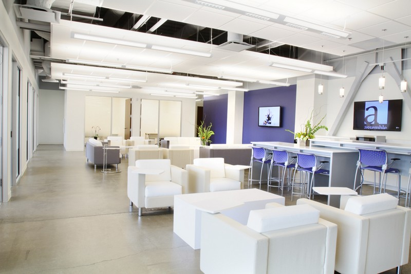 Assemble Park City is a  shared office concept  work space that offers flexible leases, furnished offices and conference rooms and a collaborative lounge with interactive features. Image courtesy of Assemble Park City.