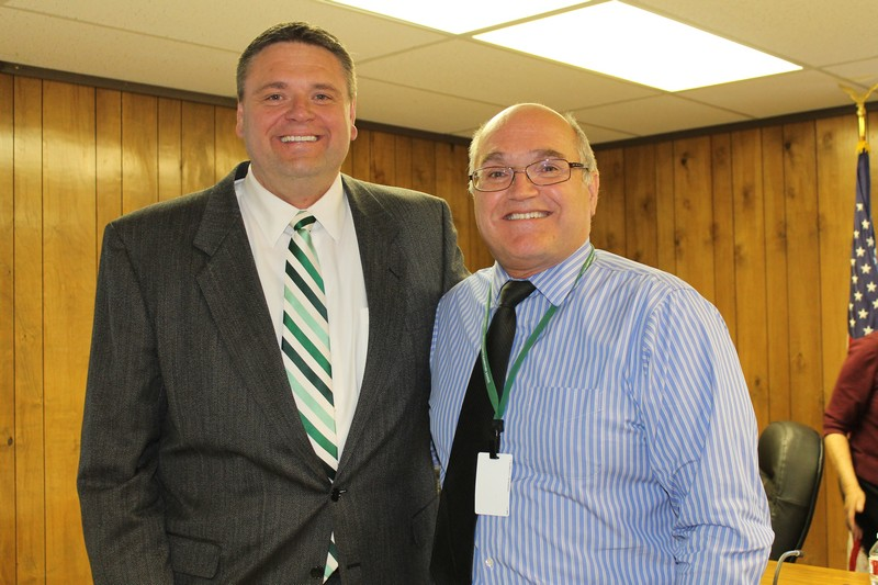 South Summit School District Superintendent Barry Walker, right, announced his retirement in February. A search for his replacement began, and Dr. Shad E. Sorenson, left, was selected. His contract begins July 1. Alexandria Gonzalez/Park Record.