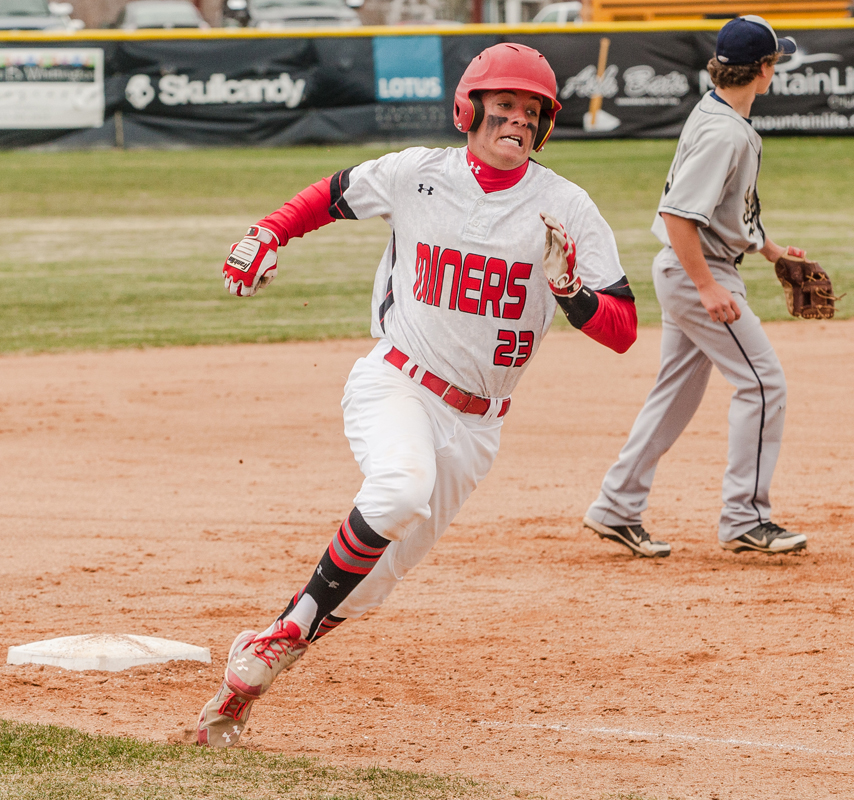 Blake Morin races around third base during a game earlier this season. Christopher Reeves/Park Record