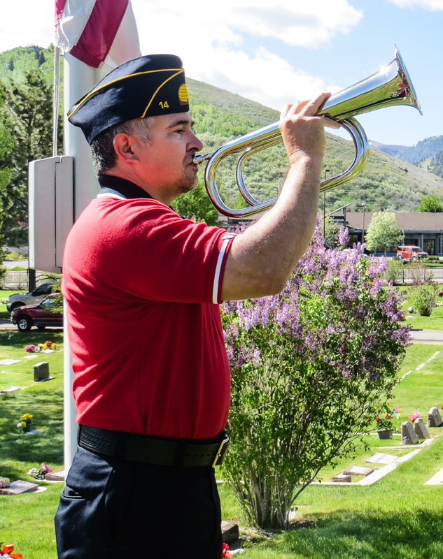 Justin Martinez, a member of the Park City post of the American Legion, is a Coast Guard veteran. He participated in a Memorial Day ceremony in Park City last year, pictured. Park Record file photo