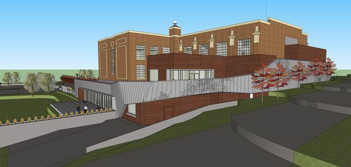 An addition is planned on the north and west sides of the Park City Library and Education Center. The Historic Preservation Board, City Hall's Old Town panel, on Wednesday offered split opinions about the design of the addition. Courtesy of Park City Municipal Corp.