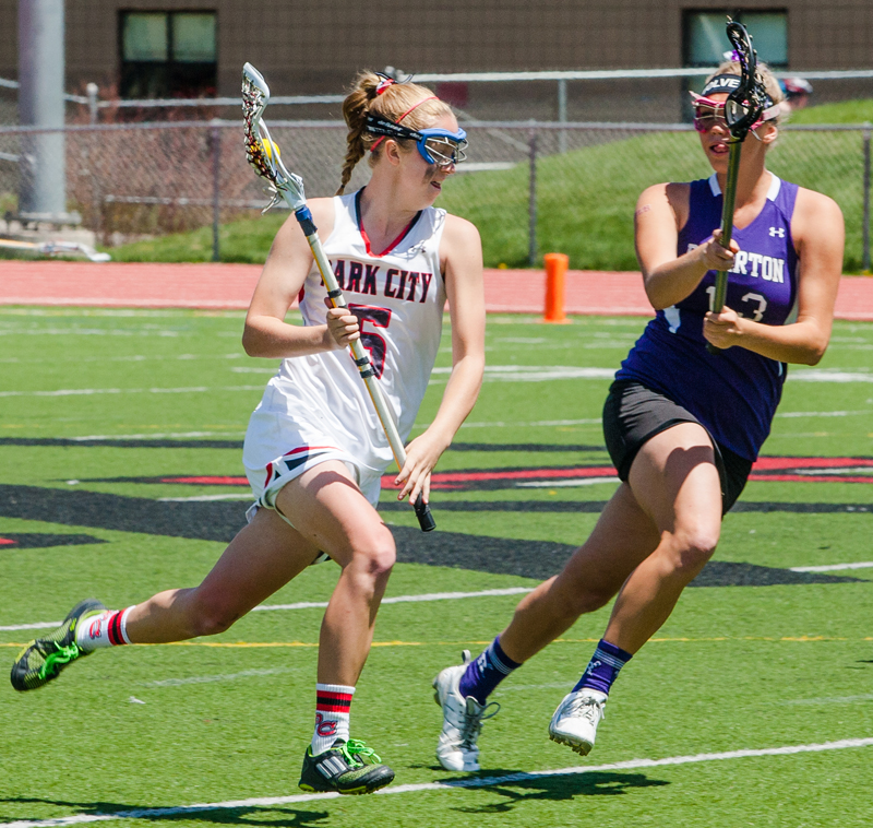 Hannah Hyatt received first-team All-American honors, as well as All-State and All-Conference first team nominations after leading the PCHS girls' lacrosse team to a perfect 15-0 season. Christopher Reeves/Park Record