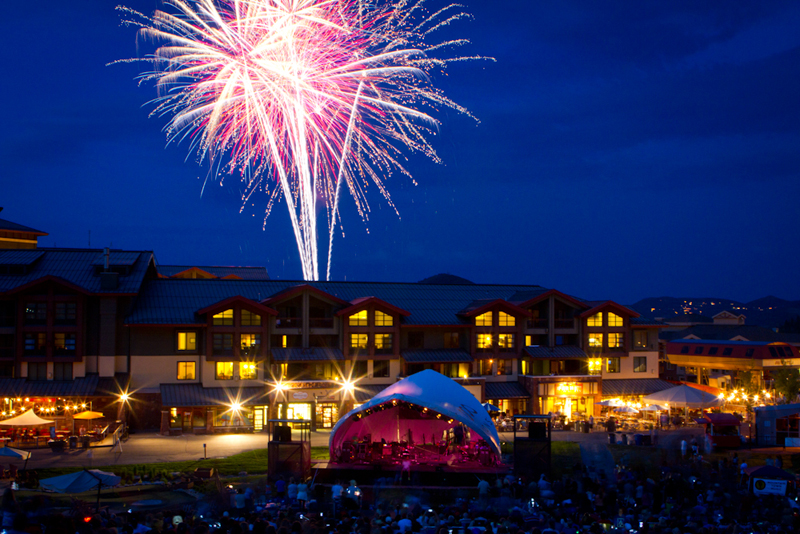 The July 3 celebration at Canyons will return this year, featuring live music and fireworks. Photo courtesy of Rebekah Stevens, Canyons Resort