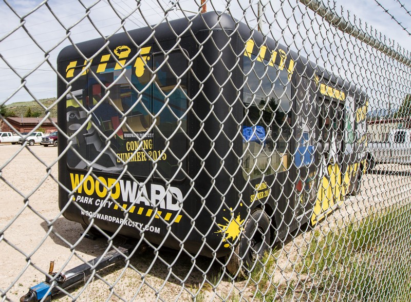 A Woodward Park City trailer this week was stored behind on a Park City Mountain Resort lot off Bonanza Drive. The Park City Planning Commission is continuing its discussions about the project, proposed for some of the PCMR parking lots. Christopher Reeves/Park Record