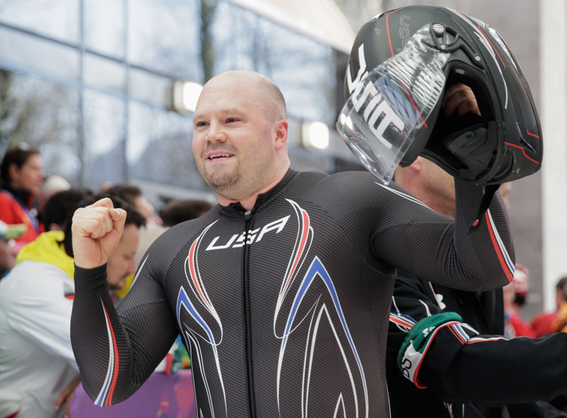 Steven Holcomb of Park City was honored with the Men s Bobsled Athlete of the Year award by the U.S. Bobsled and Skeleton Federation. (Adam Pretty/Getty Images)