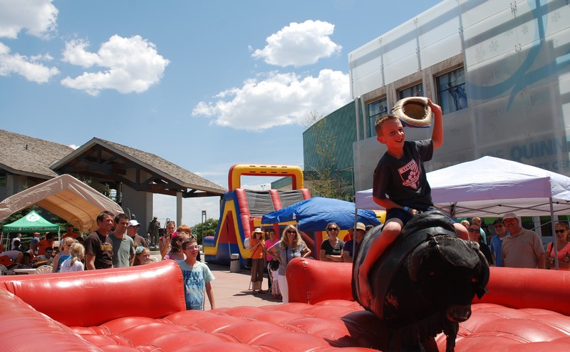 A guest rides the mechanical bull at a previous Western Day at the Utah Olympic Park. (Photo courtesy of Utah Olympic Park)
