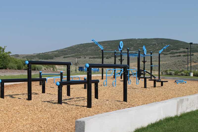 The new fitness equipment at Quinn s Junction will be showcased at a demo day on Aug. 7. (Adam Spencer/Park Record)