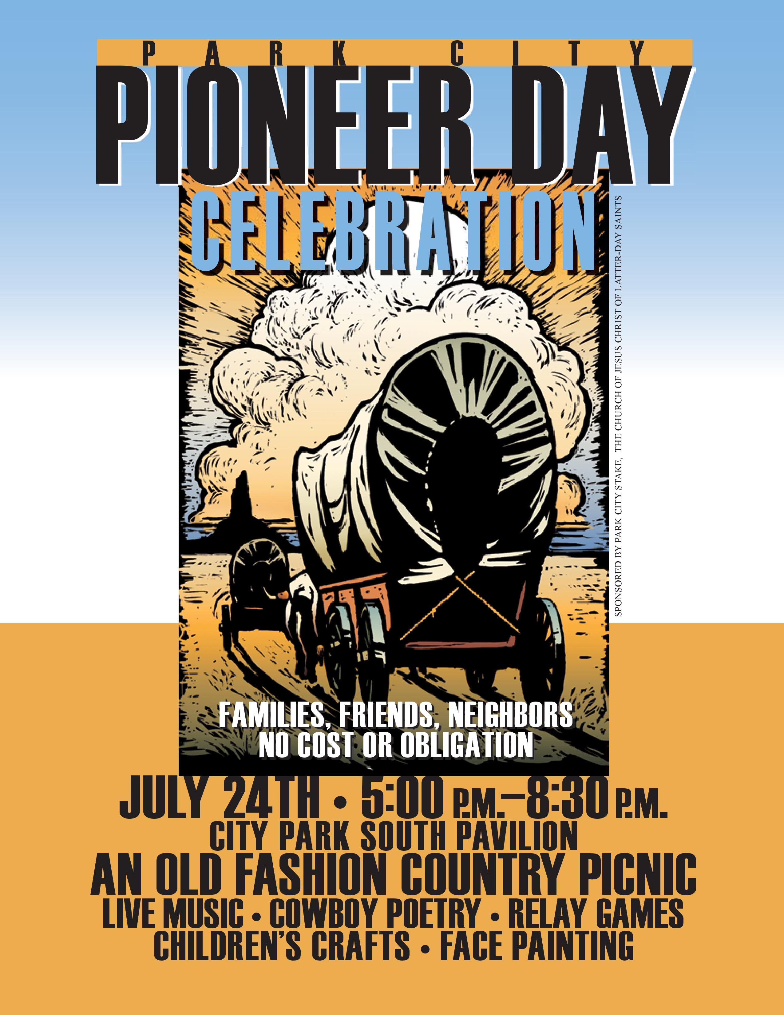 The Park City Pioneer Day Celebration is scheduled for Thursday, July 24, from 5-8:30 p.m. at the South Pavilion in City Park. There is no cost to attend. (Courtesy of Park City Stake of LDS church)