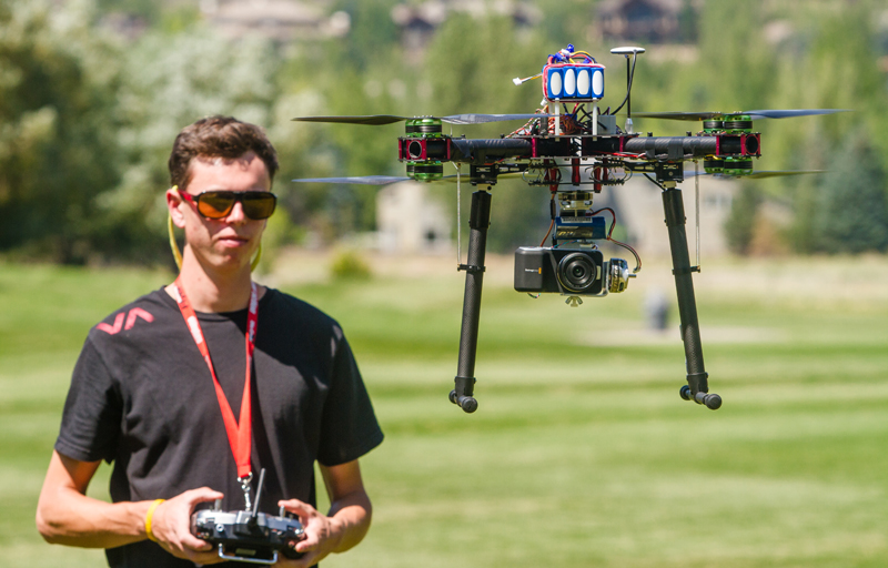 Daniel Riley, a recent graduate of Park City High School, makes use of aerial drones in his videography for Stratus Productions. Christopher Reeves/Park Record