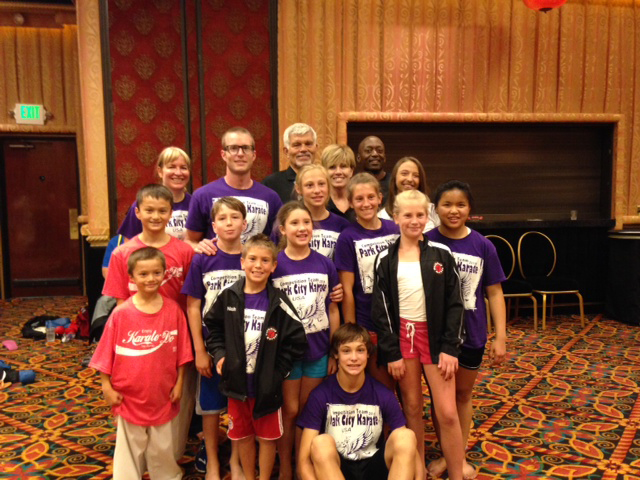 The Park City Karate competition team poses for a picture at the 2014 USA Karate Nationals in Reno, Nevada. (Photo courtesy of Park City Karate)