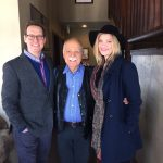 """Entertainment lawyer and author Steven C. Beer, left, is seen here with Utah Conservatory founder Dr. Frederic Cook and Finnish pop singer Peppina. Beer was in town during film festival week to sign his new book """"Your Child's Career in Music and Entertainment."""" (Courtesy of the Soussana Group)"""