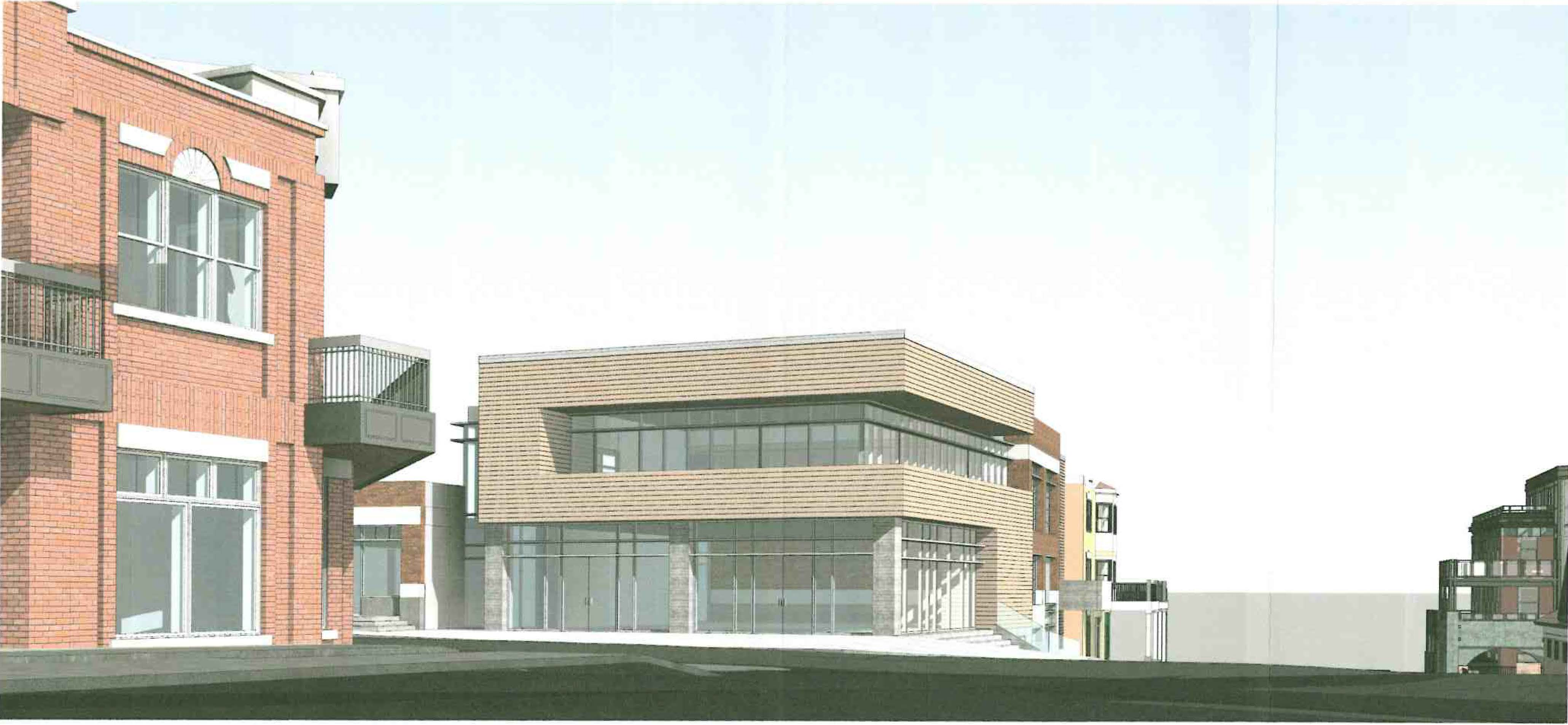 The designs to redevelop the historic property that once housed the Kimball Art Center drew a range of opinions as they were under consideration by City Hall. An expansion is planned onto what is now a patio at one corner of the intersection of Main Street and Heber Avenue. Courtesy of Park City Municipal Corp.