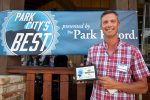 Jeff Schwartz, owner of El Chubasco, poses with a plaque Monday evening during an awards ceremony for the Park Citys Best 2016 competition. El Chubasco won the best Mexican food and best cheap eats categories. More than 7,600 people voiced their opinions in the online poll, crowning winners in 100 categories.