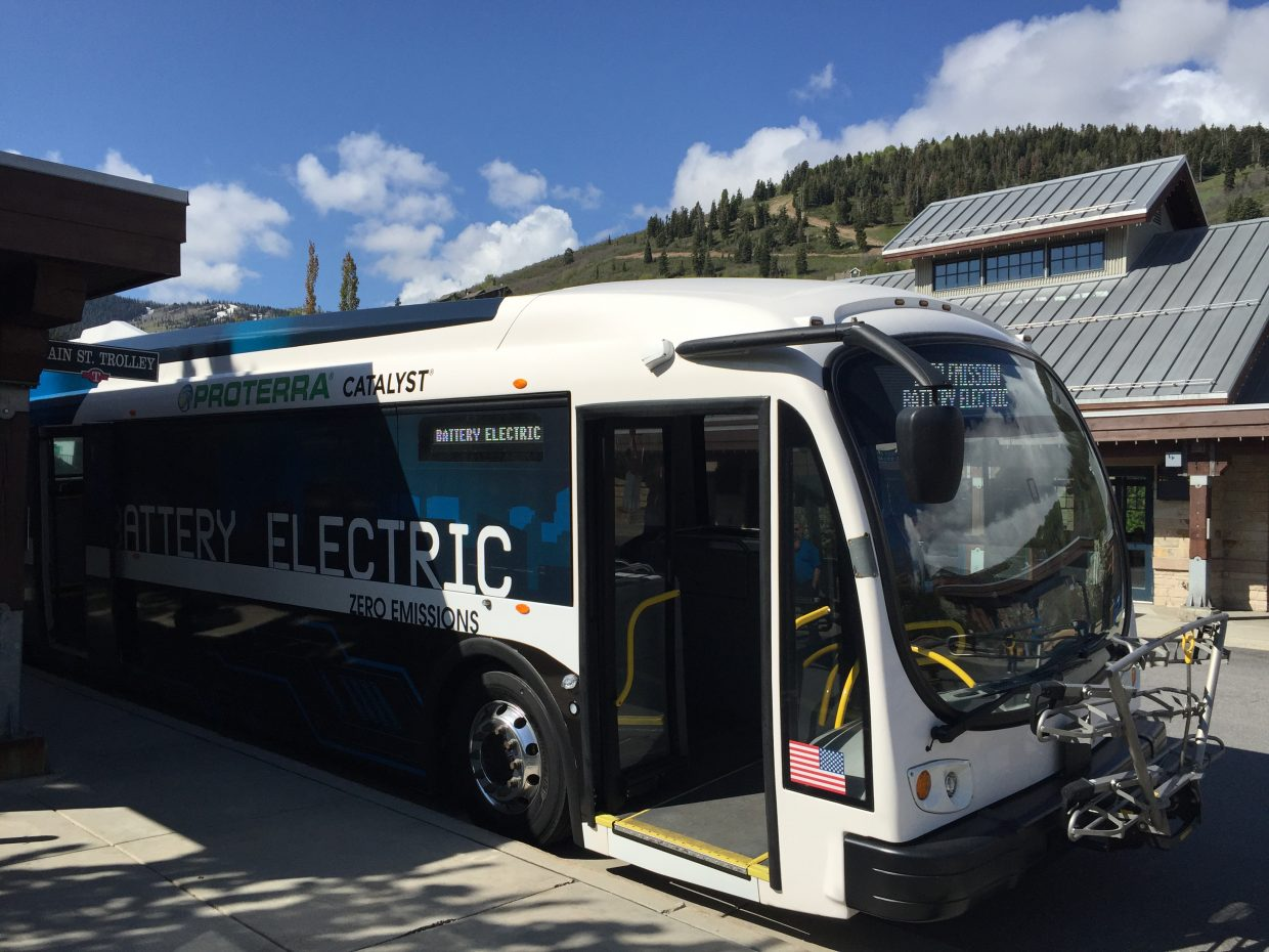 Park city opts for electric buses on a lightning fast route courtesy falaconquin