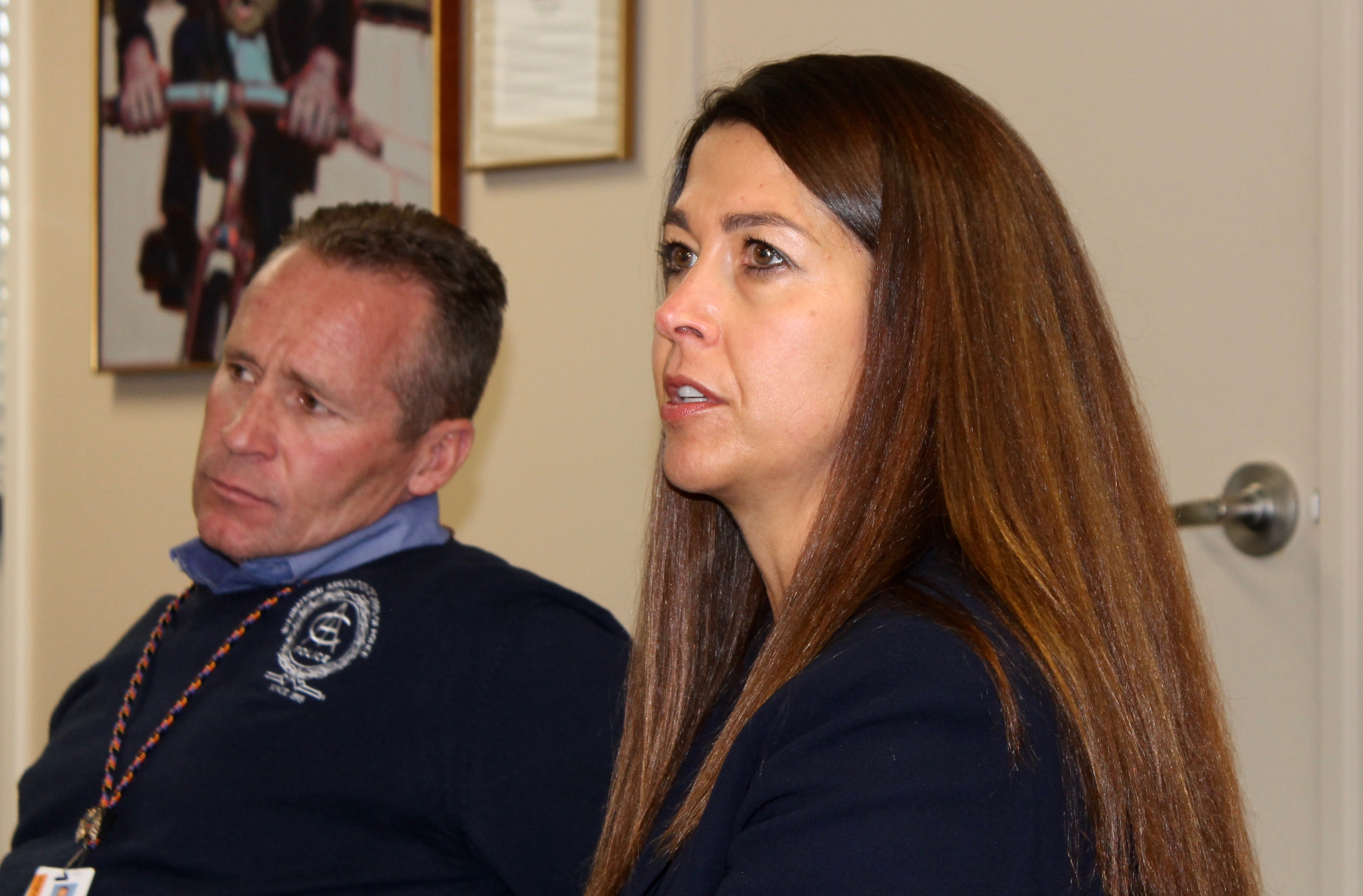 Park City Police Chief Wade Carpenter and Park City School District Superintendent Ember Conley field questions on Tuesday about the deaths of two  Treasure Mountain Junior High School students. The cause of their deaths had not yet been determined but school and police officials have issued a warning that a new synthetic drug may be connected.