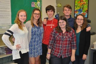 From left Liz Cantlebary, Boyana Martinova, Adam Hickey, Madi DeCamp, Devon Gregory and Abi Kretschmar have helped lead the Park City High School debate team to new heights. They hope to put the final touches on the new era of Park City debate with a state title this year.