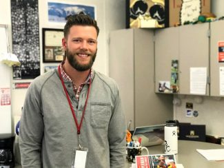 Jacob Jobe, an English and journalism teacher at Park City High School, comes from a family of educators. He says being able to make an impact on students each day makes him happy he, too, entered the profession.
