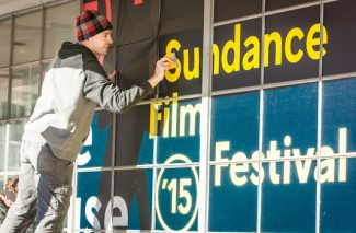 Sundance Film Festival workers prepare the Kimball Art Center for the 2015 event. Sundance traditionally occupied the building during the festival, but the property is expected to be under construction during the 2017 event.