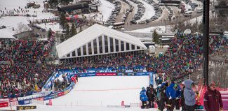 The crowd at the Audi FIS Ski World Cup event in Killington over the weekend.