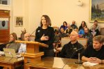 Kathleen Johnston, a Jeremy Ranch resident and member of the Jeremy Ranch Homeowners Association, speaks against the Woodward action-camp proposal for Gorgoza Park during the Summit County Council meeting on Wednesday.