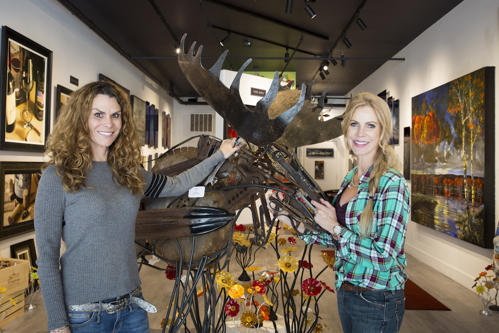 Prothro Gallery owner Traci Prothro, left, and marketing director Nanci Nemeth stand by one of sculptor Malen Pierson's found-object creations. Prothro Gallery will celebrate its one-year anniversary, which will include an appearance by Pierson. Prothro Gallery owner Traci Prothro, left, and marketing director Nanci Nemeth stand by one of sculptor Malen Pierson's found-object creations. Prothro Gallery will celebrate its one-year anniversary, which will include an appearance by Pierson. Prothro Gallery owner Traci Prothro, left, and marketing director Nanci Nemeth stand by one of sculptor Malen Pierson's found-object creations. Prothro Gallery will celebrate its one-year anniversary, which will include an appearance by Pierson. Prothro Gallery owenr Traci Prothro, left, and marketing director Nanci Nemeth stand by one of sculptop Malen Pierson's found-object creations. (Tanzi Propst/Park Record)