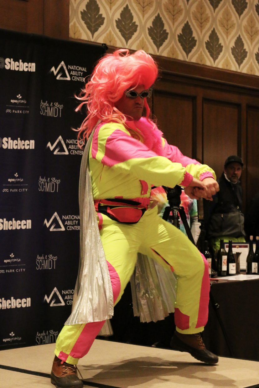 11:11 vinter Aurelien Roulin shows off his moves to judges on March 2, 2018. Roulin was participating in Wine on the Mountain's